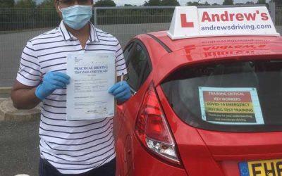 Dr Prashant Verghese Emergency driving test