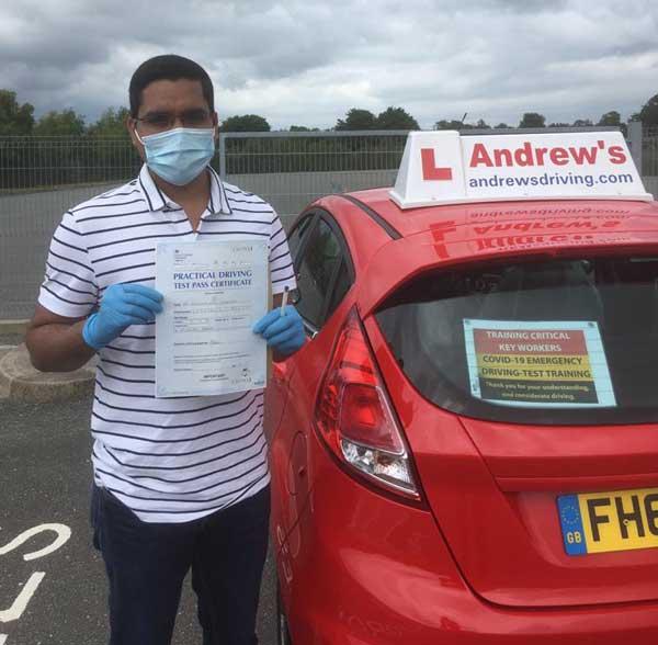 Dr Prashant NHS driving test