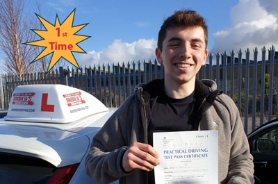 Jakob in Bangor Driving Test Centre