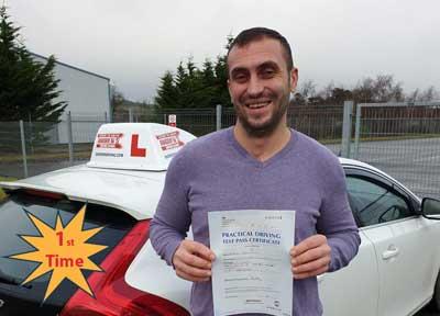 Adrian at Bangor driving test centre