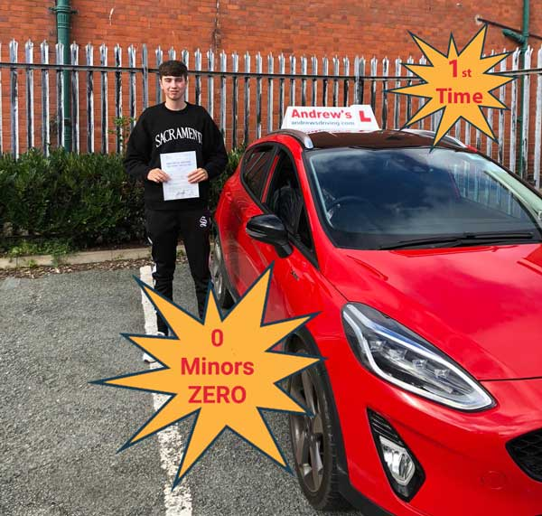 Clean Sheet Driving test pass with no minors