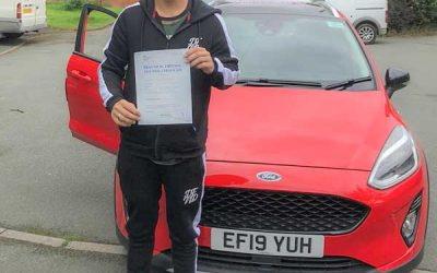 Jamie passed first time in Rhyl