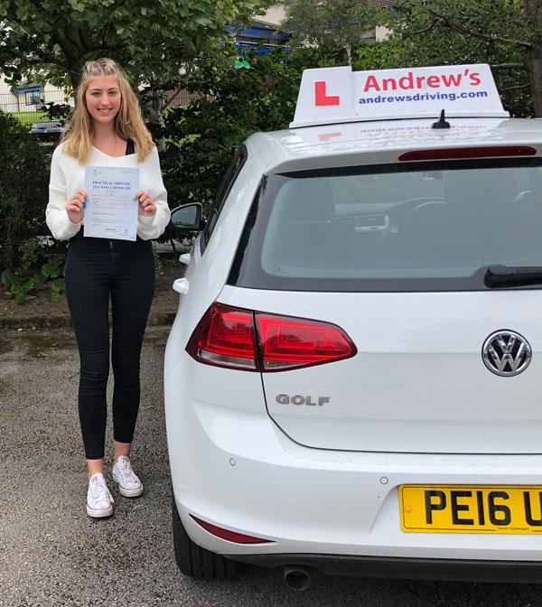 Lauren driving test passed in Bangor