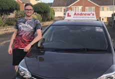 Andrew's car and local driving instructor
