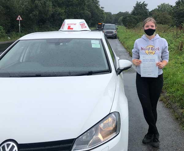 Jasmin driving test passed in Bangor